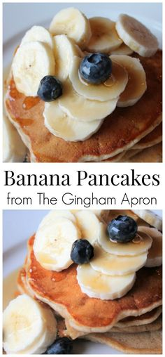 Banana Pancakes- the cinnamon and buttermilk makes these. Banana Pancakes- the cinnamon and buttermilk makes these delightful! Breakfast Dishes, Breakfast Recipes, Brunch Recipes, Brunch Ideas, Breakfast Ideas, Easy Recipes, Healthy Recipes, My Favorite Food, Favorite Recipes