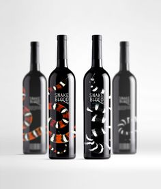 """Wine ""Snake blood"" inspired by the Vietnamese tradition of making wine, infused by snake poison. Wine Bottle Design, Wine Label Design, Wine Bottle Art, Wine Bottles, Alcohol Bottles, Wine Brands, Bottle Packaging, In Vino Veritas, Packaging Design Inspiration"