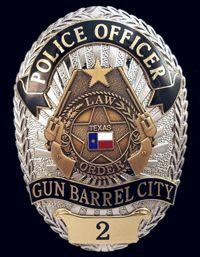 OFFICER Gun Barrel City, Authentic Police Badge w/ COA.Law Enforcement Today www.lawenforcementtoday.com