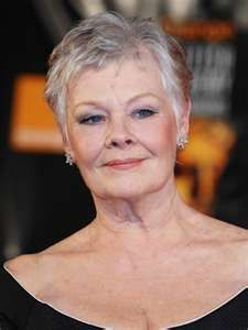 Judi Dench - great actress  Born 12/08/1934  York, North Yorkshire, England---I admire this woman!