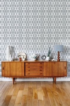 Layla Faye showcases a fresh, vibrant interior range of wallpapers, cushions and lampshades. Wallpaper Bedroom Feature Wall, Designer Wallpaper, Feature Wall Bedroom, Grey Kitchen Wallpaper, Wallpaper Accent Wall, Wallpaper, Interior, Grey Wallpaper Accent Wall, Geometric Wallpaper