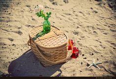 90s beach picnic.