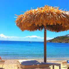Ornos Beach in Mykonos, Greece