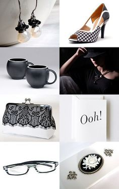 Elegance In Black And White by Marukasa on Etsy--Pinned with TreasuryPin.com
