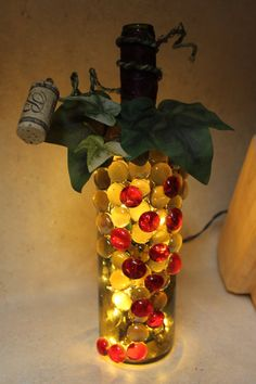 Wine bottle light ~ What a great gift for the family wine-o!