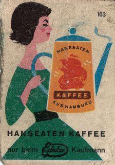 "livingnowisliving: ""Walther saved to Zündholzschachtelbilder german matchbox label Vintage Packaging, Vintage Labels, Vintage Ads, Vintage Prints, Vintage Posters, Vintage Ephemera, Retro Illustration, Graphic Design Illustration, Matchbox Art"