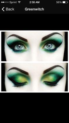 Intense green fairy eye makeup                                                                                                                                                                                 Mehr