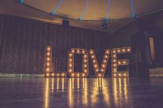 The Hire Supplier Illuminated 'LOVE' letters @ Nyland Manor Popcorn Stand, Bristol England, Love Letters, United Kingdom, Rustic, Lettering, Building, Vintage, Decor