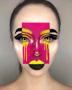 OFRA Cosmetics Fixline gel liner in black, - Make Up Art - Creative Makeup Looks, Unique Makeup, Cute Makeup, Colorful Makeup, Natural Makeup, Cool Makeup Looks, Elegant Makeup, Maquillage Horrible, Make Up Looks