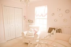 Vintage Pink and White Nursery | Project Nursery