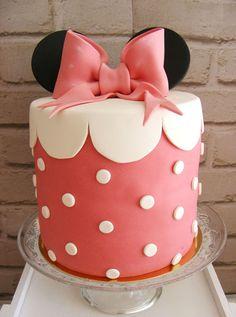 Minnie Mouse Cake from a Minnie Mouse Birthday Party via Kara's Party Ideas | KarasPartyIdeas.com (11)