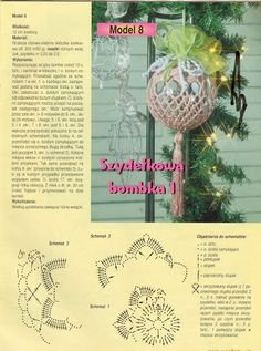 Tina's handicraft : 11 designs & charts for christmas ornament Crochet Christmas Ornaments, Christmas Crochet Patterns, Crochet Snowflakes, Beaded Ornaments, Diy Christmas Ornaments, Christmas Angels, Holiday Crafts, Crochet Edging Patterns, Crochet Motif