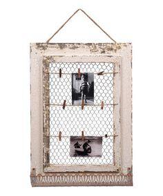 Look at this #zulilyfind! White Vintage Memo Board by Wilco #zulilyfinds