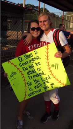 A gift for any softball player! Easy and very cheap DIY! Softball Room, Senior Softball, Softball Party, Softball Crafts, Softball Quotes, Softball Shirts, Softball Players, Girls Softball, Fastpitch Softball