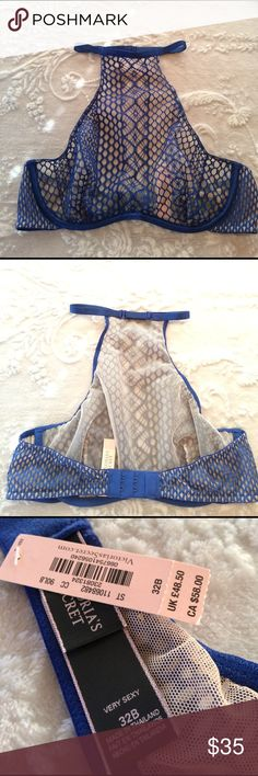 Victoria's Secret Very Sexy Fishnet Halter 32B NWT Can only be worn halter style. I do NOT trade or hold items. Victoria's Secret Intimates & Sleepwear Bras