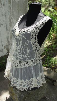 Gypsy boho bohemian crochet shabby chic romantic by SummersBreeze