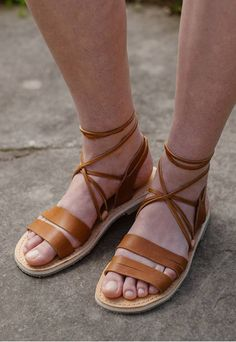 a47f15161 Gladiator Sandals Lace up sandals Greek Sandals Leather Sandalias Hombre
