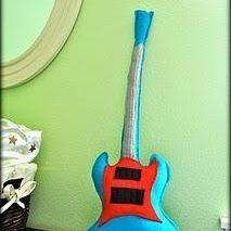 Combining the best of both worlds -- felt baby toys for rock-star babies!