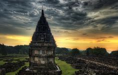 Just outside of Yogyakarta in Indonesia are the ruins of Prambanan. Getting to this place is a long way from home, so we tried to take advantage of everything in and around the city. Prambanan is a Hindu temple that was first built in 850 CE.  It began a