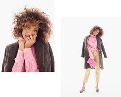 J.Crew Pink Sweater Look