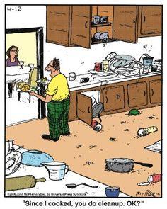 Messy Cartoons Resataurant Kitchen on