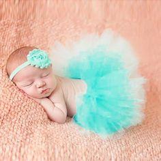 Baby Girl Photography Props Tutu Dress with Headband