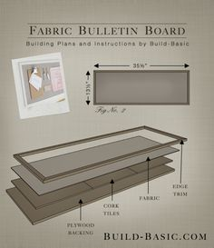 Build a DIY Fabric Bulletin Board - Building Plans by @BuildBasic www.build-basic.com