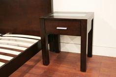Bedroom Furniture :: Bedroom Sets :: Charlie Dark Brown Wood Queen 4 Piece Modern Bedroom Set - Bachelor Furniture: Bar Furniture, Dorm Furniture, Apartment Furniture