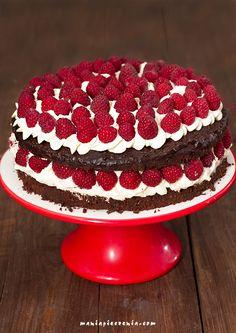 maniapieczenia: Tort czekoladowy z malinami (bez mąki)