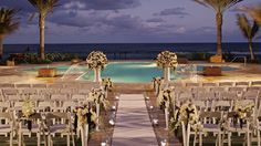 The Courtyard Pool is a sublime setting for sunset, seaside ceremonies. Ritz Carlton palm beach Florida