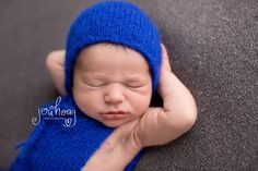 Boys Photo Props Knitted Blue Set Short by SquishyBabyStuff