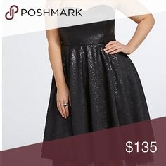 A Black sequins party dress from torrid Black plus size party dress with straps you can pull on and off torrid Dresses Prom