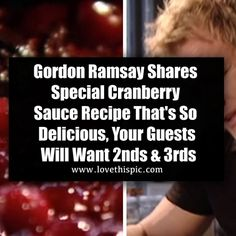 Gordon Ramsay Shares Special Cranberry Sauce Recipe That's So Delicious, Your Guests Will Want 2nds & 3rds thanksgiving video thanksgiving recipes thanksgiving recipe videos viral viral videos viral right now viral stories
