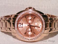 My fave Christmas present 2014.. Michael Kors Women's 'Cameron' Round Rose Gold Bracelet Watch - MK5692