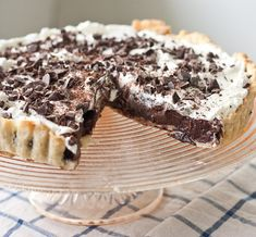 Chocolate Stout pudding pie