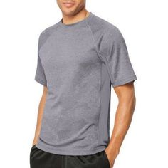 Hanes Sport Men's X-Temp Performance Tee, Size: Small, Gray