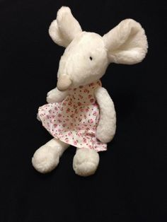 Jellycat Pitpat Bunny White Pink Soft Toy Jumper Plush