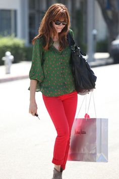Michelle Monaghan in J Brand jeans