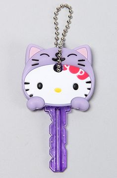 *Accessories Boutique Key Cap Hello Kitty Animal Key Cap in Purple : MissKL.com - Cutting Edge Women's Fashion, Accessories and Shoes.