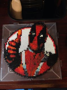 Marvel Deadpool Perler Bead Design by RatedEforEveryone