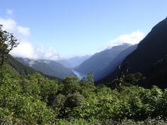 First glimpse of Doubtful Sound...