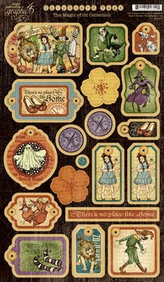 Graphic 45 - The Magic of Oz Collection - Die Cut Chipboard Pieces - Magic Tags One at Scrapbook.com $5.99