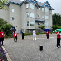 "Well, our weather didn't cooperate for our outdoor band here at Hawthorn Park Retirement Residence in Kelowna but that didn't stop our staff from singing ""Oh Canada"" in the rain! Happy Birthday Canada! 😄 #vervecares #community #birthday #celebration Happy Birthday Canada, Wellness Activities, Assisted Living, Senior Living, Birthday Celebration, Retirement, Singing, Rain, Weather"