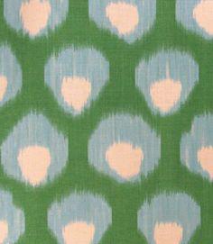 Peter Dunham Pillow Cover- Bukhara - Blue and Green - Global Ikat Decor- Motif…