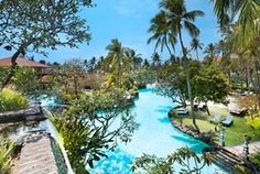 The Laguna Resort & Spa, Nusa Dua, Bali . Secret: I check in and don't move.  Well, they have 9 pools and I am compelled to loll about in each.