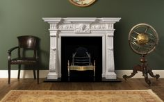 Kirkdale Manor Marble Fireplace