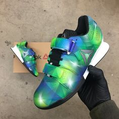 d462dba8b534 Custom Painted Prism Reebok Legacy Olympic Weightlifting Shoes