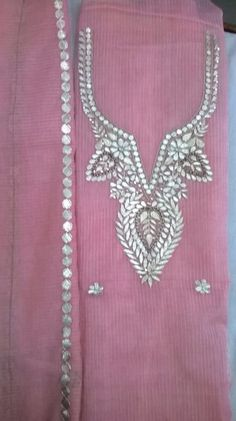 Pink Kota suit with pure Gota patti  hand work
