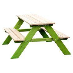 Sun Kinder Sitzgarnitur Aus Massivholz Fur Draussen Natur Grun Kindersitzgruppe Holz Holz Im Garten Holz