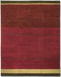 CARPET.037 TUFENKIAN: Loop Stripe Ruby (available in many sizes)